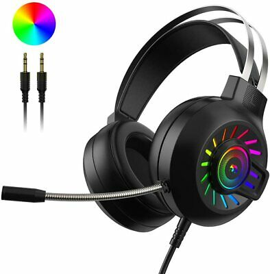AU30.54 • Buy New Gaming Headset LED Headphones Bass Surround Mic For PC Laptop PS4 Xbox One