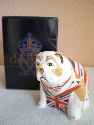 Royal Crown Derby : The British Bulldog : 2011 : 1st Quality : Made In England • 115£