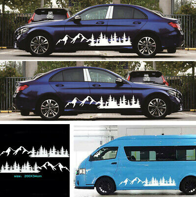 $23.68 • Buy 1 Pair Removable White Mountain Graphics Truck SUV Car Side Body Vinyl Sticker