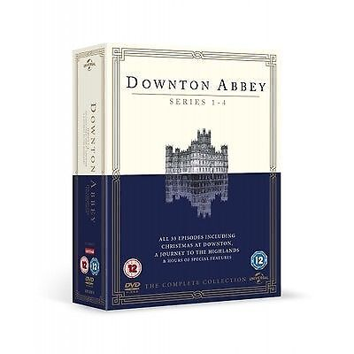Downton Abbey - Series 1-4 - Complete (DVD, 2013, 15-Disc Set, Box Set) • 1.30£