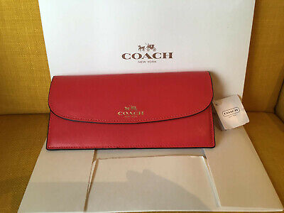 Coach Red Leather Ladies Wallet BNWT • 12.99£