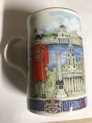 James Sadler London Tower Bridge Beefeater Souvenir Bone China Mug • 8.76£