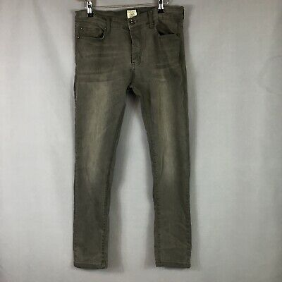 Ze Enzo Mens Grey Jeans Trousers Size 32S • 19.99£