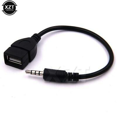 3.5mm Male Audio AUX Jack To USB 2.0 Type A Female Converter Adapter Cable • 1.99£