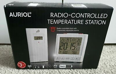 Radio-Controlled Temperature Station   Auriol  White. BRAND NEW IN SEALED BOX • 12£