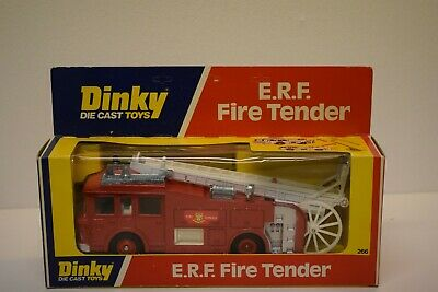 Dinky E.R.F. Fire Tender #266 Boxed Fire Engine Vintage Shop Stock • 50£