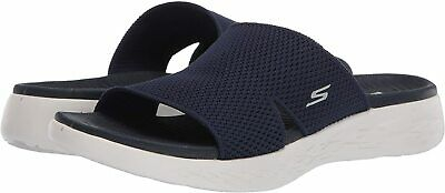Skechers Women's Shoes On The Go 600 Oceanside Fabric Open Toe, Navy, Size 8.0 • 22.99£