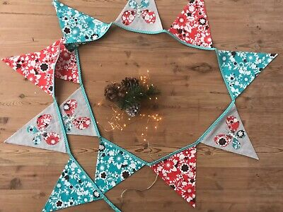 Multicoloured Butterfly Appliqué Bunting  • 8£