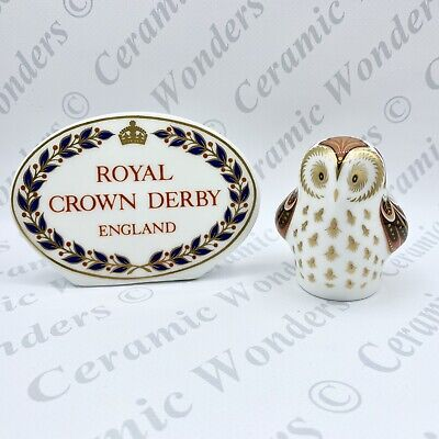 Royal Crown Derby Owlet Bird Animal Paperweight - 1st Quality Gold Stopper • 38£