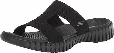 Skechers Women's Go Walk Smart-140054 Slide Sandal, Black, Size 10.0 32EC US • 24.99£
