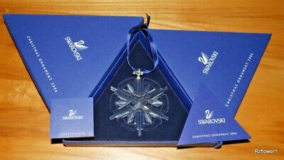 Swarovski 2006 A.E. Christmas Star Snowflake Ornament 837613, Boxed, Cert • 65£