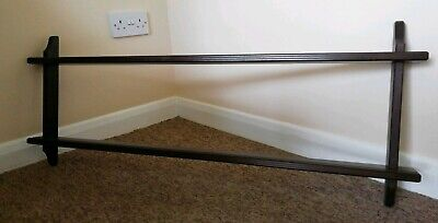 Wooden Two Tier Wall Hanging Kitchen Plate Display Rack  • 13£