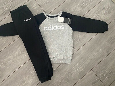 Brand New With Tags Boys Adidas Fleece Tracksuit / Jogger Set - Size 3-4 Years • 23.75£