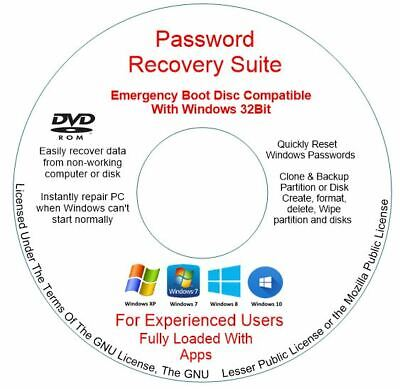 Samsung Sony Toshiba  Windows 10 8 7 Vista Xp Password Reset Forgotten Dvd • 1.89£