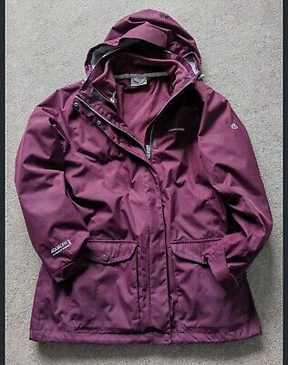 'Craghopper' 3-in-1 Aquadry Waterproof Systems 15000 Jacket Size 14 Exc Cdtn! • 7£