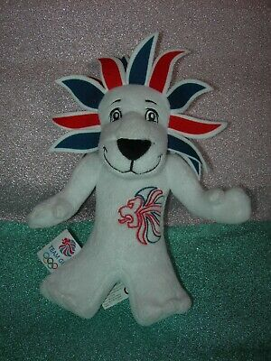 Pride The Lion Mascot Team Gb Olympics 2012 Soft Cuddly Stuffed Animal Toy Used • 2£
