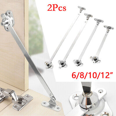2 Kitchen Cabinet Cupboard Door Lift Up Strut Lid Flap Stay Support Chrome-Hinge • 11.14£