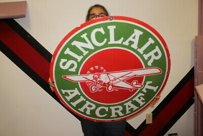 $ CDN223.88 • Buy Large Sinclair Aircraft Airplane Gasoline Gas Oil 30  Porcelain Metal Sign