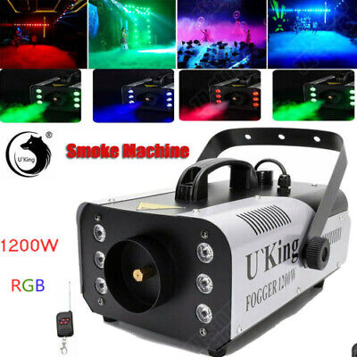 1200W Smoke Machine Fog Machine Stage Haze Effect DJ Home Disco Party +Remote UK • 48.99£