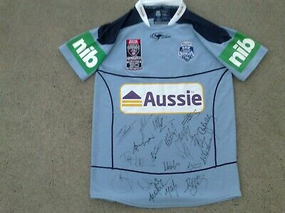 AU195.99 • Buy SIGNED 2010 NSW Blues State Of Origin Sponsored Rugby League Jersey L