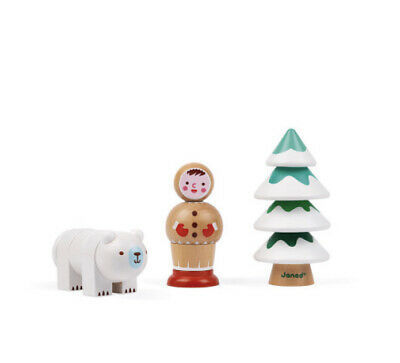 Janod I Am Learning To Screw Arctic Wooden Toy • 20£