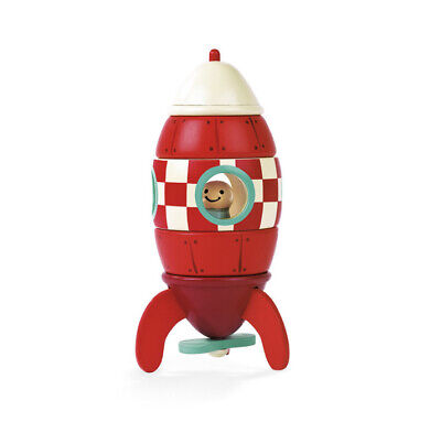 Janod Small Magnetic Rocket Wooden Toy, Suitable For Children Aged 2- 6 Years • 16£
