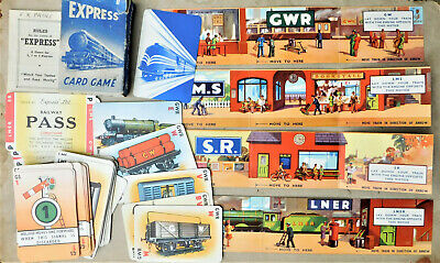 NO RESERVE C1950 Pepys Express Card Game Railway Trains Carriages Vintage • 0.99£