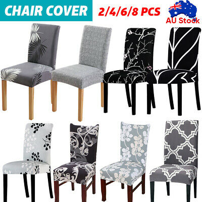 AU4.69 • Buy 1-8 PCS Dining Chair Covers Washable Wedding Banquet Party Stretch Chair Covers