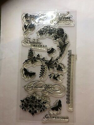 Sentiment And Flowers Clear Stamps • 3.50£