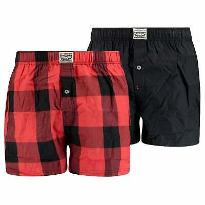 Levi's 2 Pack Premium Buffalo Check Woven Boxer - Red • 30£