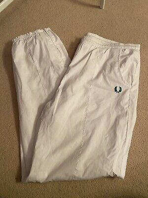 Vintage White Fred Perry Shell Suit Joggers Large  • 4.25£
