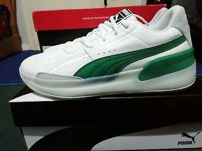 Puma Clyde Hardwood Basketball Shoe Trainers Size UK 10.5 Green White New Unused • 26£