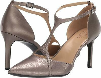 Naturalizer Women's Shoes Andrea Leather Pointed Toe, Pewter Lthr, Size 10.0 • 52.99£