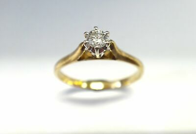 AU280 • Buy 9CT Yellow GOLD & Diamond Solitaire Ring
