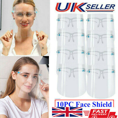 10 PACK Full Face Shield Visor Protection Mask Sheild Safety Clear PPE Face Mask • 8.99£