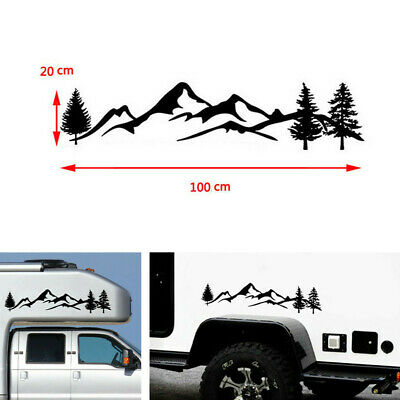 $9.46 • Buy 100cm Tree Mountain Graphics Decal Decoration Sticker For Off Road SUV Camper