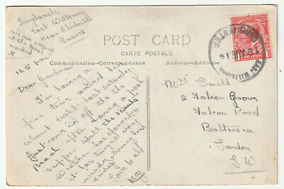 1919 EAST WITTERING CHICHESTER Sussex Rubber Pmk KGV 1d Real Photo Beach PC • 17.50£