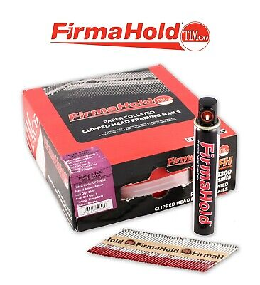 Firmahold Galv 50mm X 2.8 Collated Nails CFGT50G - 3,300 Nails And 3 Gas Cells • 36£