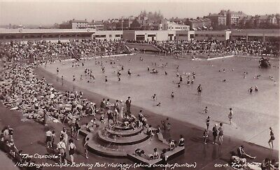 New Brighton Wallasey  Real Photo Bathing Pool View Postcard Unused • 4£