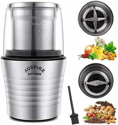 AU49.89 • Buy *Auspure Electric Coffee & Spice Grinder Machine Brushed Stainless Steel Chopper