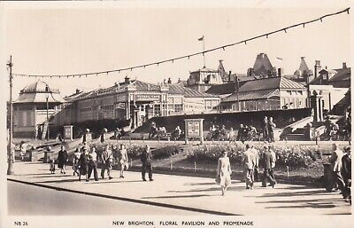New Brighton Floral Pavilion & Prom Real Photo Postcard Unused • 3£