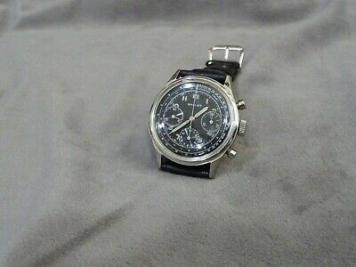 $ CDN3766.13 • Buy Excellent Vintage Gallet Valjoux 72 Chronograph Black Dial.