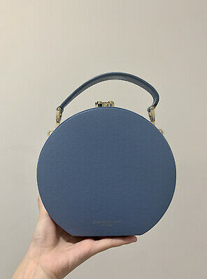 Aspinal Of London Blue Hat Box Bag • 220£
