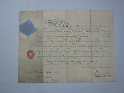£385 • Buy Original Bold Hand Signed Ink Queen Victoria Military Promotion 1888.