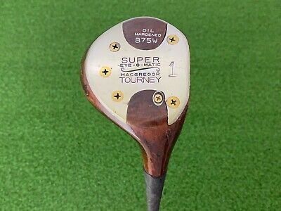 $59.99 • Buy RARE MacGregor Golf TOURNEY SUPER EYE-O-MATIC B75W Persimmon DRIVER Right Handed