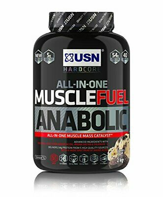 USN Muscle Fuel Anabolic All-In-One Muscle Builder Protein Shake, With Creatine • 34.99£