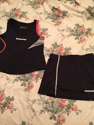 Babolat Girls Black Tennis Top And Skort Age 6-8 Years • 11.75£