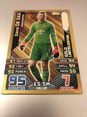 Match Attax Extra 2015/16 David De Gea Gold Limited Edition Le3 Great • 19.95£