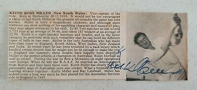 AU40 • Buy Keith Miller Signed Neat Magazine Picture Cricket Invincibles