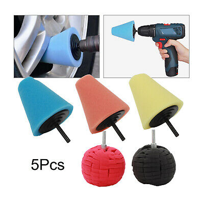 5PCS/Set 6'' 150mm Car Polishing Heads Mop Pads Sponge Soft Foam Buffing Pads • 7.49£